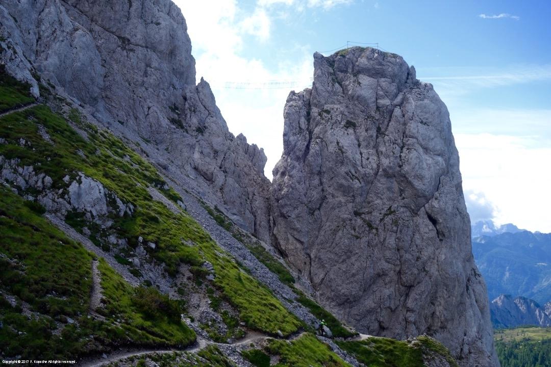 Klettersteig Däumling : Däumling klettersteig gartnerkofel nassfeld