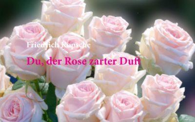 Du, der Rose zarter Duft