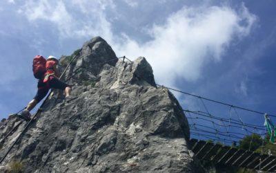 Ferrata Sass de Brusai Klettersteig (C/D) Monte Boccaòr, Treviso, Italien