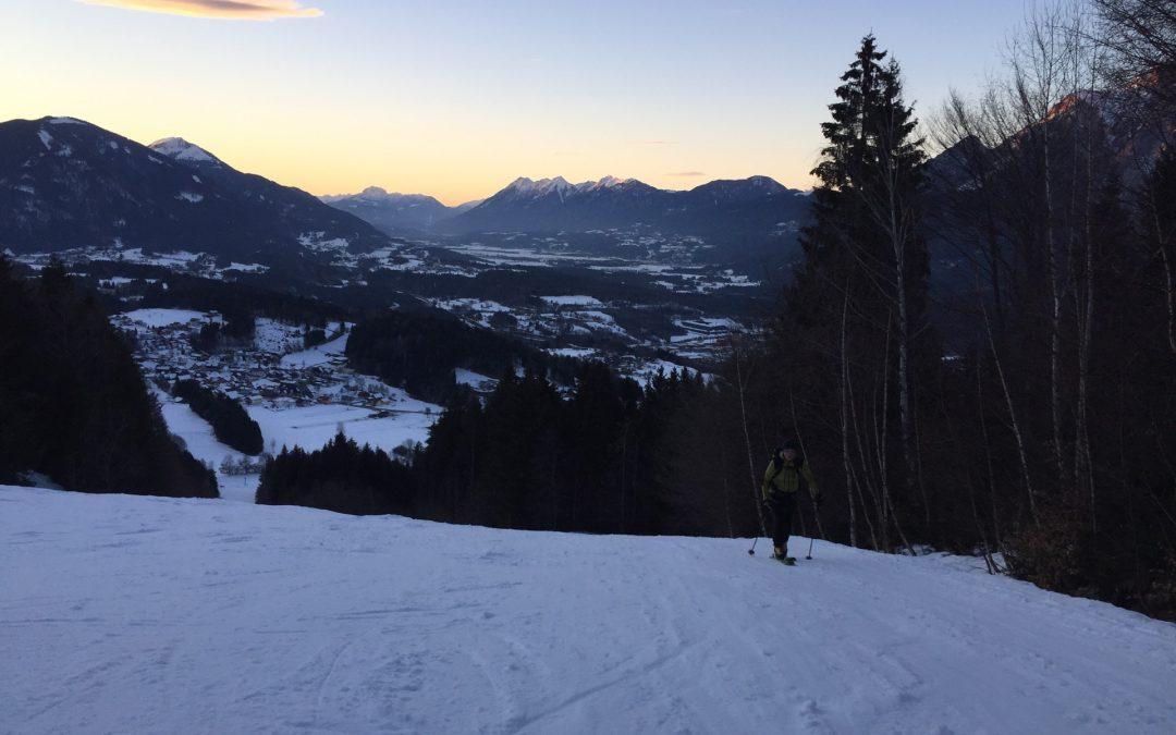 Nacht Skitour Dreiländereck (1.600m) Kärnten