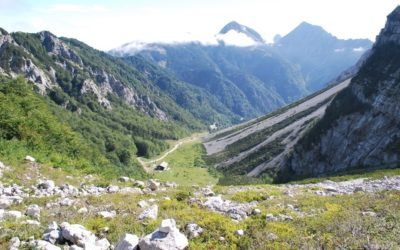 Na Zelenici Dom (Hütte) (1.536m) Loiblpass, Slowenien